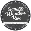 Square Wooden Box Ίλιον Λογότυπο